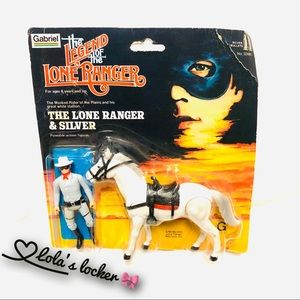 Vintage 81' The Lone Ranger & Silver Toy Figures